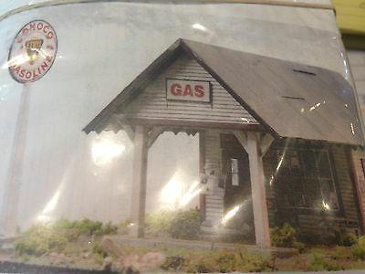 Csm -  S Scale - 1930' - 40's Style Gas Station- Csm-4109S