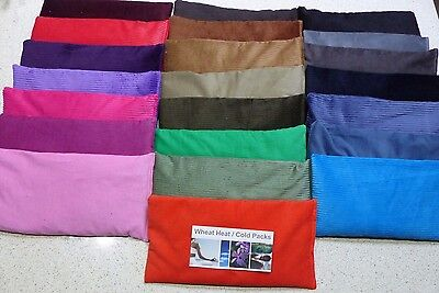 Wheat Heat Bags Cold Packs 31-32 x 17cm - Lavender, Chamomile, Unscented