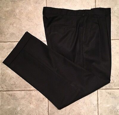 LANDS END * Mens Black TRADITIONAL FIT Casual Pants * Size 37 * EXCELLENT