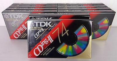 tdk cd-ing II 74 high position 10 pezzi, new factory saled