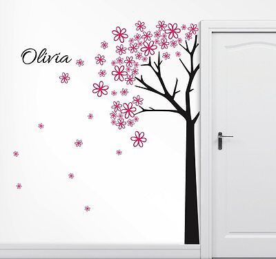 Personalized 7 FT Tall Tree Wall Decal Art Sticker Mural