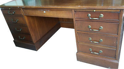 Vintage Chippendale Style Executive Office Desk
