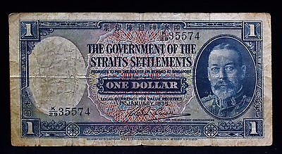 1935 The Government of the Straits Settlements One Dollar Banknote - George V
