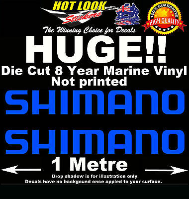 SHIMANO Fishing Stickers x2 HUGE 1000mm Decals for Tinnie boat Trailer Caravan