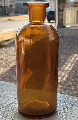 Antique TCW - Co Bottle T. C. Wheaton USA Old Brown Amber 2-M-22 Rare Glass Jar