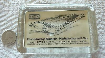 Vintage Brosco Glass/mirror Paperweight, Brockway-Smith Haigh Lovell Co.