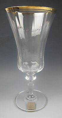 Mikasa Crystal JAMESTOWN-CLEAR (Gold Trim) Iced Tea Glass(es) EXCELLENT