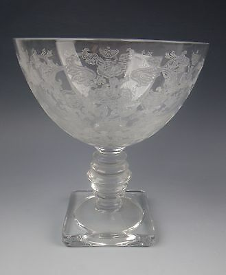 Fostoria Glass QUEEN ANNE (Etched) Champagne/Sherbet Glass(es) EXCELLENT
