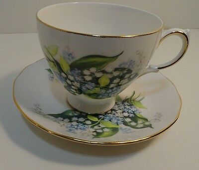 Ridgway Potteries Queen Ann Bone China Cup & Saucer Made in England