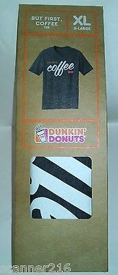 Dunkin Donuts -X Large - T-Shirt - But First, Coffee -  Brand New In Package