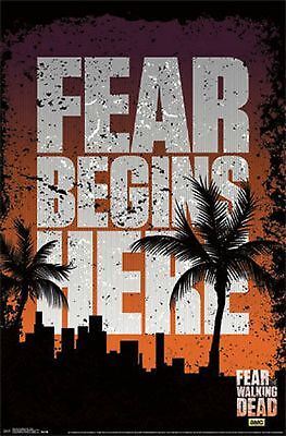 Fear The Walking Dead Fear Begins Here Teaser Poster New 22X34 Free Shipping