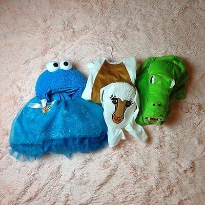 Toddler Size 2T-3T Lot Of 3 Sheep Crocodile Cookie Monster Dress Up Costumes