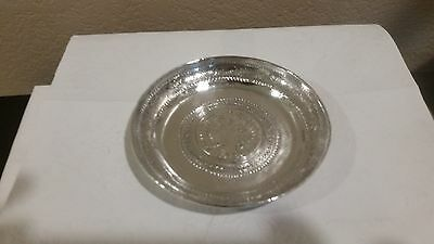 """4 1/2"""" Sterling Silver 89 gram Dish with a Silver Coin in the Center"""