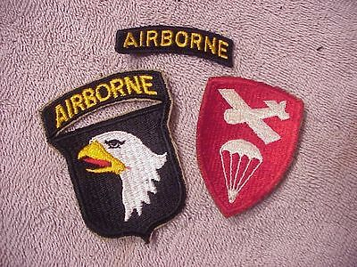 Original Wwii Lot Of Airborne Paratrooper Patches