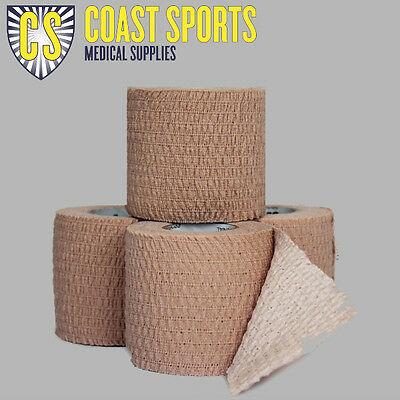 "50mm Hand tear EAB ""Rugby Tape"" (TAN) Box of 16 ROLLS Free postage"