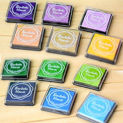 20x DIY Craft Finger Print Ink Pad Inkpad Rubber Stamps Inkpads Toys Kids GameSW