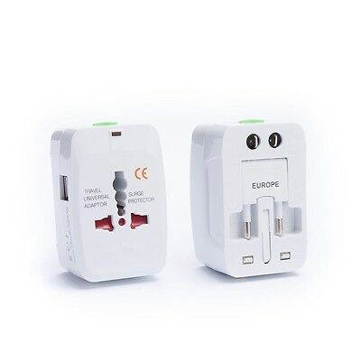 All in One Universal Worldwide Travel AC Power AU UK US EU Plug Adapter