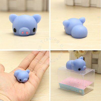 Mochi Blue Piggy Soft Squeeze Toy Collection Stress Relieve Anxiety Kid Toy Gift
