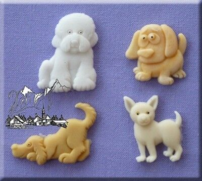 Dogs Silicone Cake Decorating Mould by Alphabet Moulds