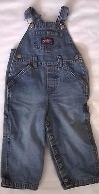 Old Navy Baby Blue Jean Bib Overalls boys or girls size 18-24 Month 100% cotton