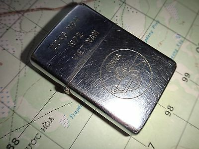 Vietnam War Rare Zippo Lighter DONG XOAI 1972 VIETNAM, US Helicopter COBRA Logo