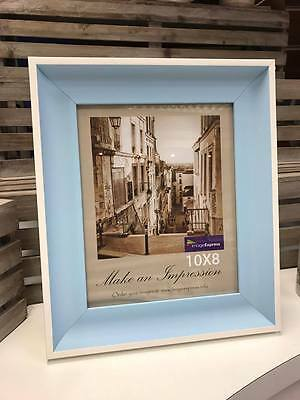 New Blue Photo Picture Frame 6x4 7x5 8x6 10x8 Baby Boy Photo Frame