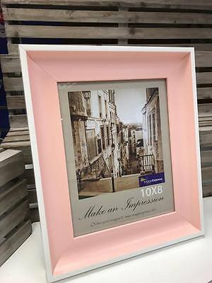 New Pink & White Photo Frame  6x4 7x5 8x6 10x8 Baby Girl Photo Frame