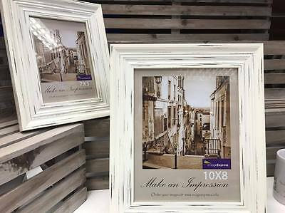 New Ivory 6x4 7x5 8x6 10x8 Cream White Rustic Vintage Photo Picture Frame