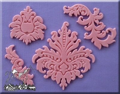 Baroque Silicone Cake Decorating Mould by Alphabet Moulds