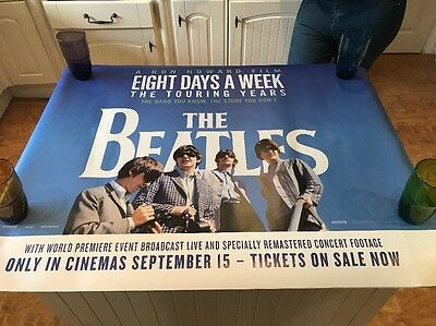 The Beatles: Eight Days A Week 2016 - Original Quad Poster - Mint Collectable