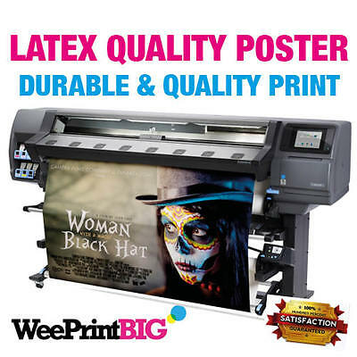 Waterproof Premium Latex Retail Printed Poster Matt, Gloss Printing Service