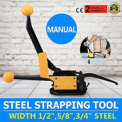 """A333 Manual Steel Strapping Tool No buckle 1/2""""-3/4"""" Sealless Light Weight Pack"""