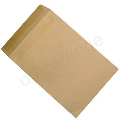 250 x Heavyweight Manilla 115gsm Self Seal C4 A4 Plain Brown Quality Envelopes
