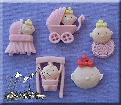 Baby Girl Silicone Cake Decorating Mould by Alphabet Moulds