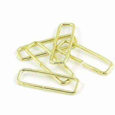40mm 1 5/8 in. Metal Gold :: Narrow :: Loop Ring for Straps Bag Maing (M060)