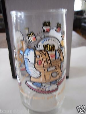 Burger King 1979 Made In USA Wizard of Fries Robot Glass Collectible