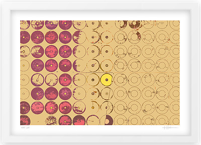 "Tabea Henne, Original Druck, ""Cereal Circle V Yellow"", handsigniert, DIN A2"