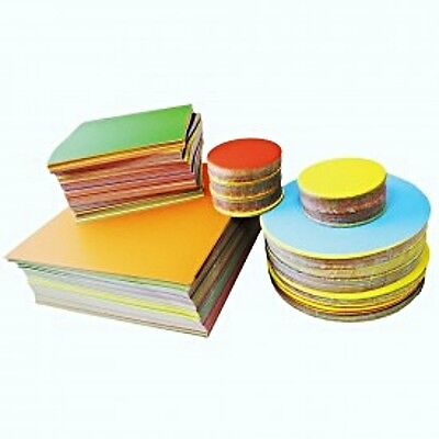 Stephens 100mm Circles Gummed Gloss (Pack of 100) NEW / FREE P&P