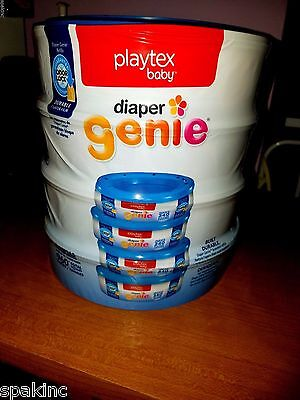 FOUR *4* New PLAYTEX DIAPER GENIE Disposable System Refills ☆960 count☆ FREE S&H