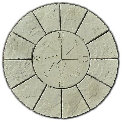 New Compass Rotunda paving circle patio slabs stones ( Delivery exceptions)