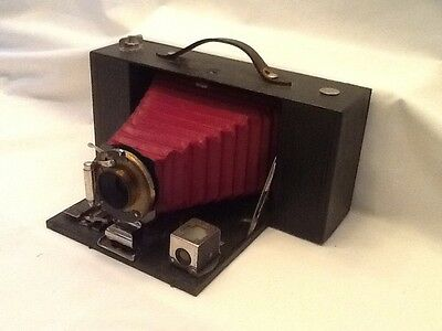 Antique Kodak No. 3-A Folding Brownie Camera With Red Bellow