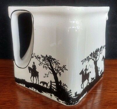 The Cube Teapot Square Cube hunting horse dog foxhunt missing lid AE