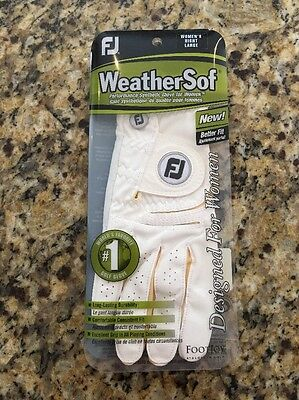 NEW FootJoy WeatherSof Glove - Ladies' Right Hand Large
