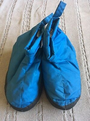 The North Face Down Slippers Booties Tent Shoes Teal Small Retro Vintage