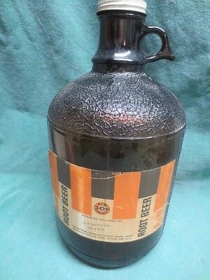 vtg A & W Root Beer One Gallon Jug - 29th Minnesota Sioux Falls SD