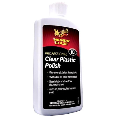 Meguiar's M10 Mirror Glaze Clear Plastic Polish - 8 oz. - Free 2 Day Shipping