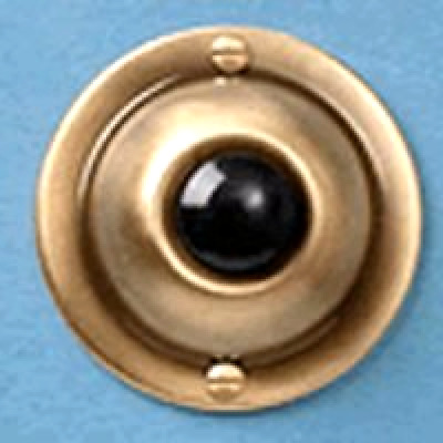 Door Bell Pushbutton Antique Brass - Free 2 Day Shipping
