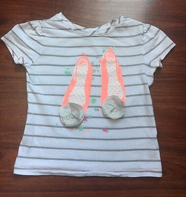 Old Navy Toddler Girls White Striped Top Shirt Size 3T