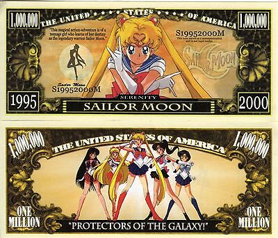 Sailor Moon Cartoon Series Million Dollar Novelty Money