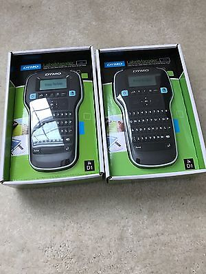 TWO DYMO LabelManager 160 Hand Held Label Maker...NEW